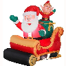 closeout inflatable santa