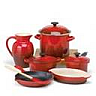 closeout red cookware