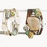 Semiprecious stone wrap bracelet.