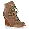 closeout womens wedge laced boots