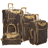 closeout brown luggage