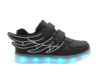 image of liquidation wholesale LED children black sneaker