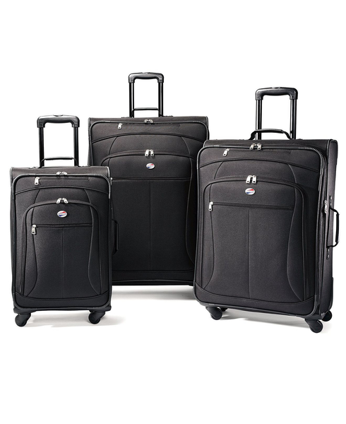 image of wholesale closeout american tourister pop 3 piece spinner luggage set