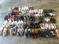 salvage new and return wholesale assorted men women used shoes