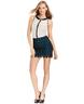 wholesale discount black blue lace high waist skirt