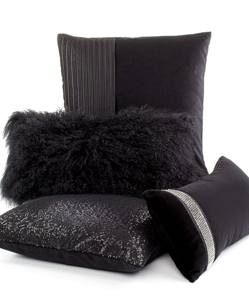 image of wholesale closeout black decorative pillows