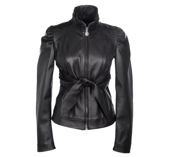 image of wholesale black leather jacket