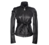 image of wholesale closeout black leather jacket