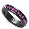 wholesale liquidation black purple diamond ring