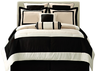 image of wholesale closeout black white comforter