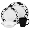 image of wholesale closeout black white dishes set