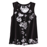 image of wholesale closeout black white flowered shirt
