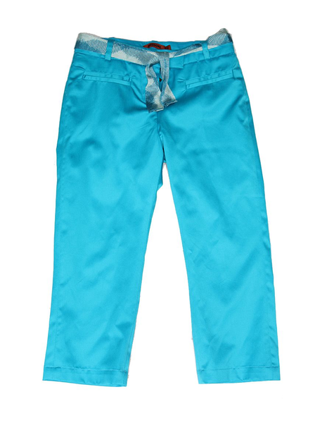 image of wholesale closeout blue capri pants