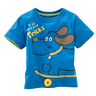 image of wholesale closeout blue childrens shirt
