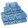 image of wholesale closeout blue design towel set