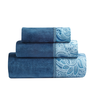 image of liquidation wholesale blue flower towels
