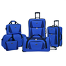 image of wholesale closeout blue multi luggage