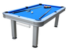 image of wholesale closeout blue outdoor pool table