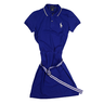 image of wholesale blue polo dress
