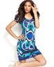 image of wholesale blue print dress