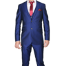 image of wholesale closeout blue red two piece mens suit