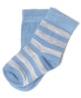 wholesale closeout blue white baby socks
