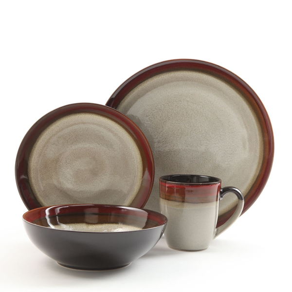 image of wholesale closeout brown dishes set