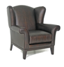 image of liquidation wholesale brown leather chair