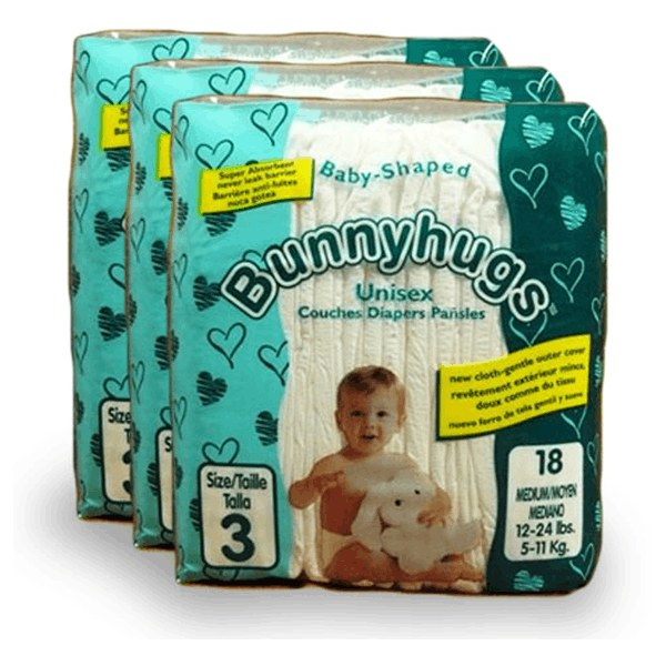 image of wholesale closeout bunny hugs diapers