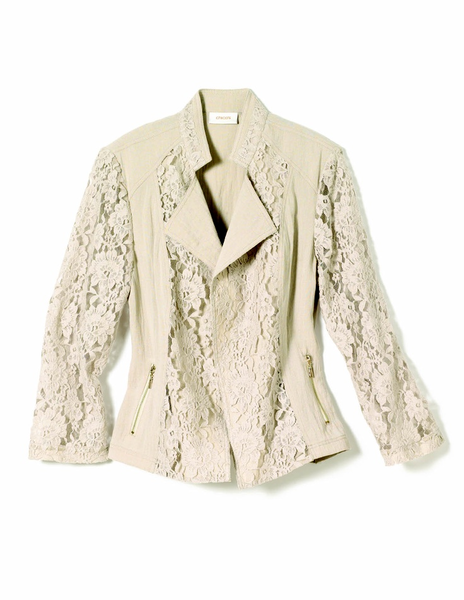 image of liquidation wholesale chicos beigfe jacket