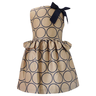 image of wholesale closeout childrens beige navy dress