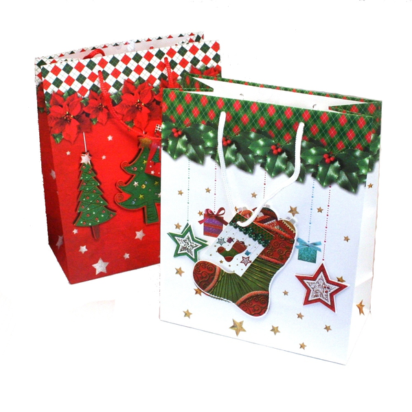 image of wholesale closeout christmas gift bags