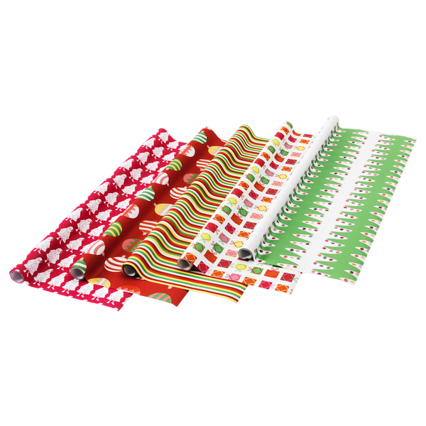 image of wholesale closeout christmas wrapping rolls