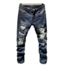 image of wholesale closeout class dim ripped jeans