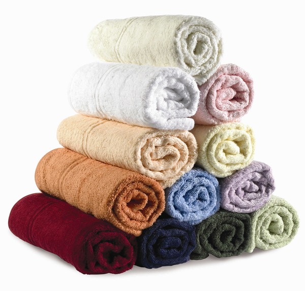 image of wholesale closeout colorful rolled towels