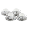 image of wholesale closeout cup set silver white