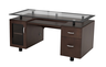image of wholesale closeout dark brown executive desk