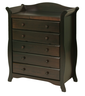 image of wholesale dark brown nursey dresser