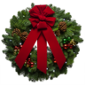 image of wholesale closeout fresh forest wreath