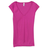 image of wholesale fushcia vneck