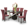 image of wholesale glass top dining set