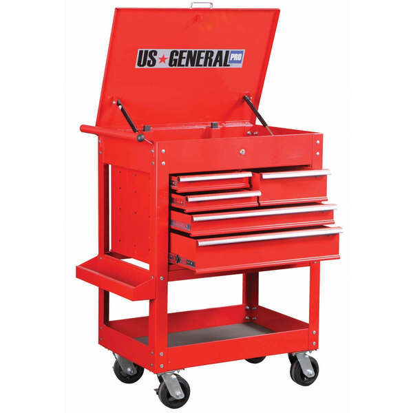 image of liquidation wholesale glossy red tool cart