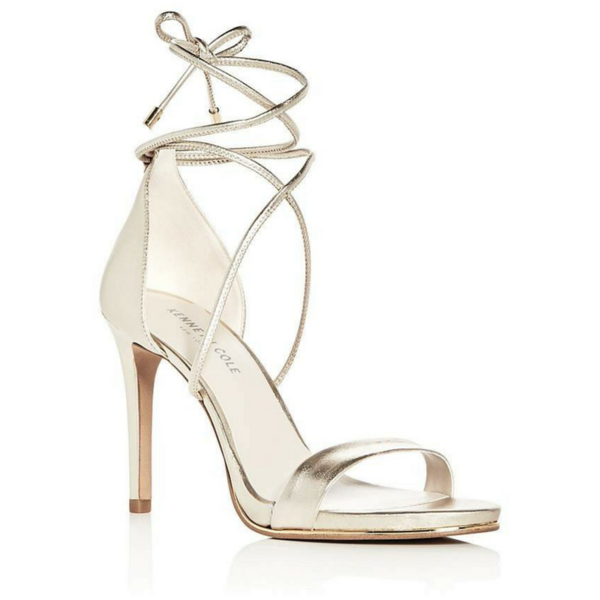 image of wholesale closeout gold kenneth cole sandal heels
