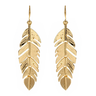 image of wholesale gold leaf earring