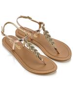 clearance gold sandels