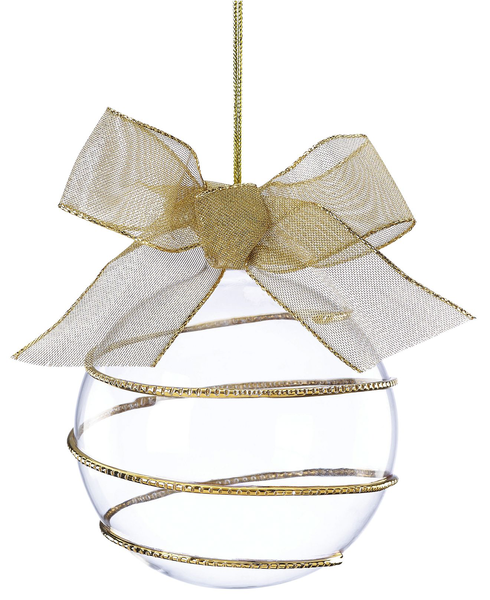 image of wholesale closeout gold swirl ornament