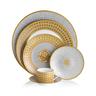 image of wholesale gold white dinner set