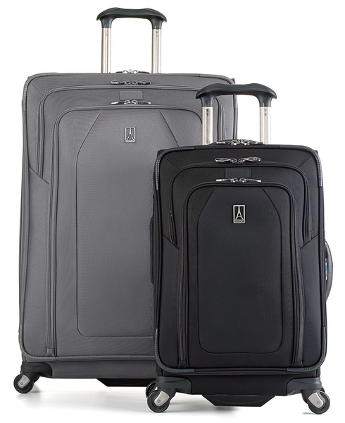 image of wholesale closeout gray and black luggage