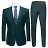 image of wholesale green blazer pants suit set