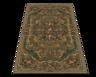 wholesale liquidation green brown rug